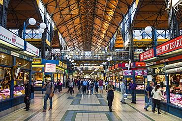 Grand market hall, Budapest, Hungary, Europe