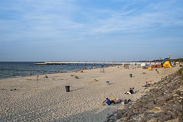 Central beach of Kolobrzeg on the Baltic Sea, Poland, Europe