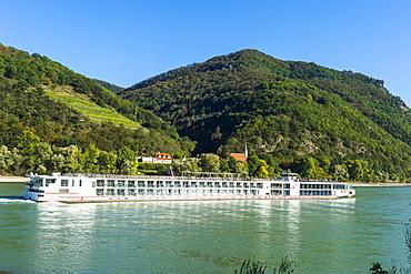 Cruise ship on the Danube, Wachau, Austria, Europe