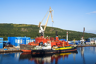 Rusatom port in Murmansk, Russia, Europe