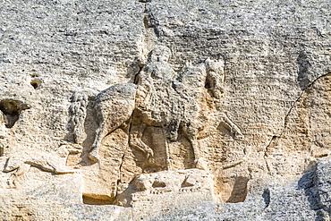 Madara Rider (Madara Horseman) rock relief, UNESCO World Heritage Site, Shumen, Bulgaria, Europe