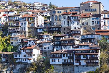 Veliko Tarnovo above the Yantra River, Bulgaria, Europe