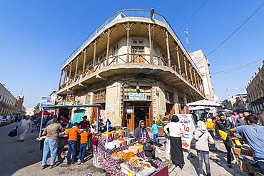 Historic Baghdad cafe, Shahbandar Cafe, Baghdad, Iraq, Middle East