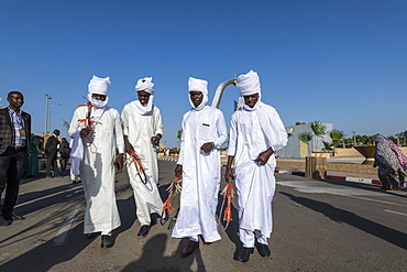 Toubou dancing, Tribal festival, Place de la Nation, N'Djamena, Chad, Africa