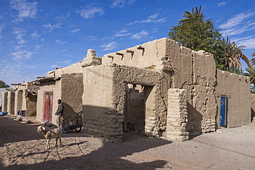 The desert town of Faya-Largeau, northern Chad, Africa