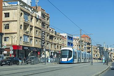 Modern tram in Algiers, Algeria, North Africa, Africa