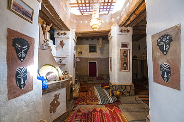 Traditional house in the old kasbah, old town, Oasis of Taghit, western Algeria, North Africa, Africa