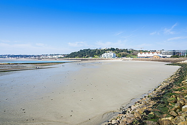 View over the bay of St. Helier, Jersey, Channel Islands, United Kingdom, Europe
