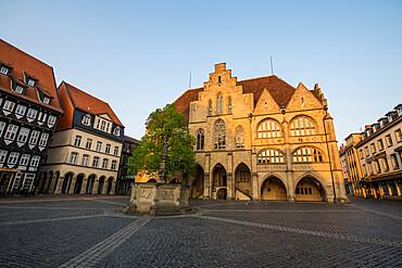 Historic market square, Unesco world heritage sight Hildesheim, Lower Saxony, Germany