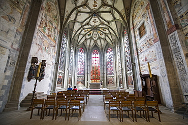 Interior of the Benedictine Abbey of Reichenau, Reichenau Island, UNESCO World Heritage Site, Lake Constance, Baden-Wurttemberg, Germany, Europe