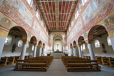 St. Georg church, Reichenau-Oberzell, Reichenau Island, UNESCO World Heritage Site, Lake Constance, Baden-Wurttemberg, Germany, Europe