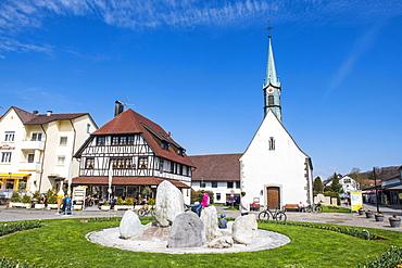 Little church in Unteruhldingen on Lake Constance, Germany, Europe