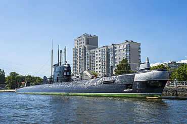B 413 submarine in the World Ocean Museum, Kaliningrad, Russia, Europe