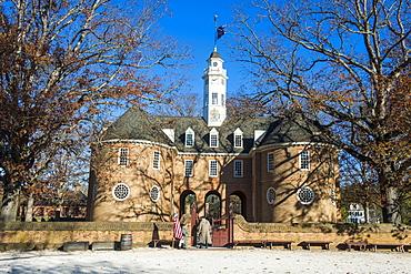 Capitol Building in historical Williamsburg, Virginia, United States of America, North America