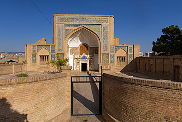 Facade of Shrine of Mawlana Abdur Rahman Jami, Herat's greatest 15th century poet, Herat, Afghanistan, Asia
