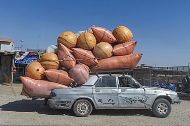 Loaded Russian car, Mazar-E-Sharif, Afghanistan, Asia