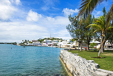 The harbour of the Unesco World Heritage Site, the historic Town of St George, Bermuda, North America
