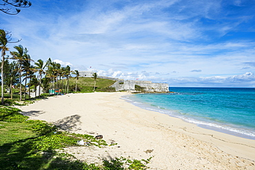 Fort St. Catherine and the white sand beach, Unesco World Heritage Site, the historic Town of St George, Bermuda, North America