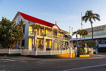 National Museum in the historic center of Gerogetown at sunset, Grand Cayman, Cayman Islands, Caribbean, Central America
