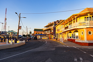 Historic center of Gerogetown at sunset, Grand Cayman, Cayman Islands, Caribbean, Central America
