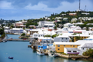 Overlook over the Unesco World Heritage Site, the historic Town of St George, Bermuda, North America