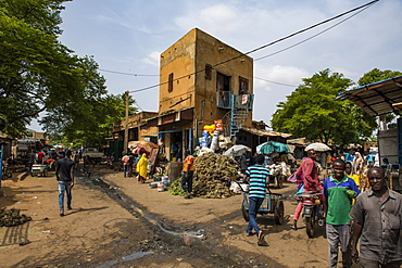 Central market, Niamey, Niger, West Africa, Africa