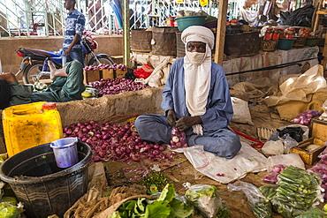 Vegetables for sale in the Central market of Agadez, Niger, West Africa, Africa