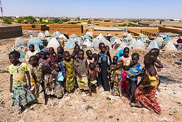 Children in a refugee camp in Agadez, Niger, West Africa, Africa