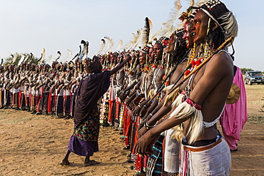 Gerewol festival, courtship ritual competition among the Wodaabe Fula people, Niger, West Africa, Africa