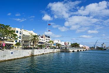 Historical seafront of Hamilton capital of, Bermuda, United Kingdom