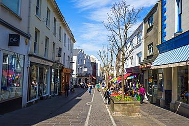 Pedestrian zone in St. Helier, Jersey, Channel Islands, United Kingdom, Europe