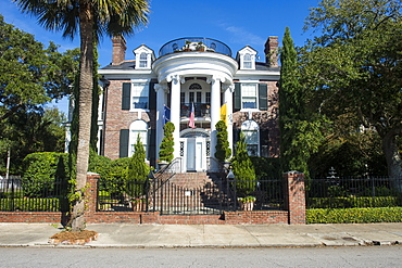 Colonial house in Charleston, South Carolina, United States of America, North America