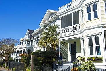 Colonial houses in Charleston, South Carolina, United States of America, North America