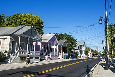Colonial houses in Key West, Florida, United States of America, North America