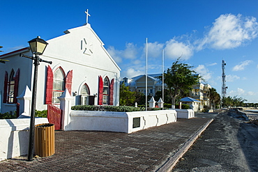 Beautiful church in Cockburn Town, Grand Turk, Turks and Caicos, Caribbean, Central America
