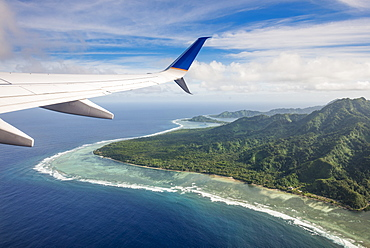 Aerial of the state of Kosrae, Federated States of Micronesia, South Pacific