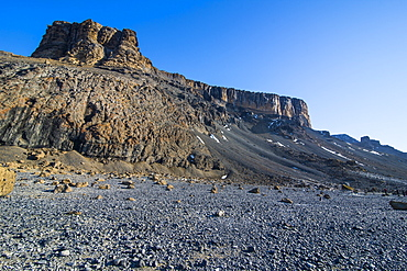 Brown Bluff huge volcanic basalt, Tabarin Peninsula, Antarctica, Polar Regions