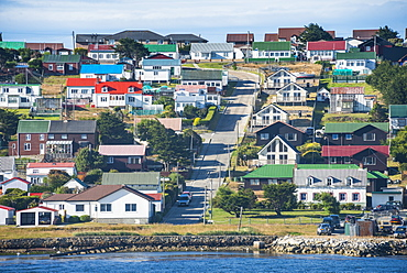 Colourful houses, Stanley, capital of the Falkland Islands, South America