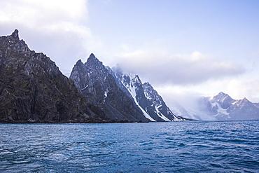 Rugged coastline of Elephant Island, South Shetland Islands, Antarctica, Polar Regions