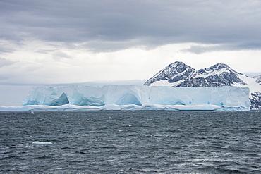 Floating iceberg on Elephant Island, South Shetland Islands, Antarctica, Polar Regions
