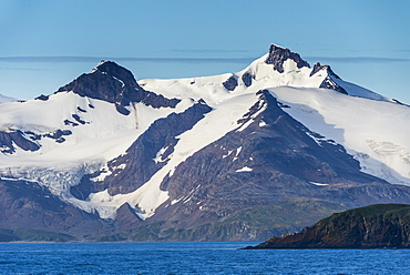 Beautiful glacial scenery of Salisbury Plain, South Georgia, Antarctica, Polar Regions