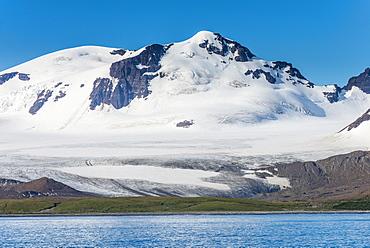 Beautiful glacial scenery of Salisbury Plain, South Georgia, Antarctica
