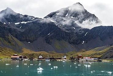 Former whaling station Grytviken, South Georgia, Antarctica, Polar Regions