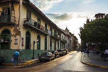 Street scene, Casco Viejo, UNESCO World Heritage Site, Panama City, Panama, Central America