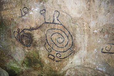 La Piedra Pintada petroglyphs, El Valle de Anton, Panama, Central America