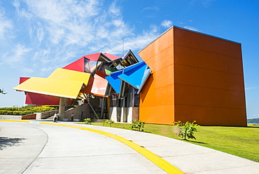 The colourful Biomuseo (The Biodiversity Museum) (Panama Bridge of Life), Panama City, Panama, Central America