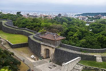 Walls of Shuri Castle, UNESCO World Heritage Site, Naha, Okinawa, Japan, Asia