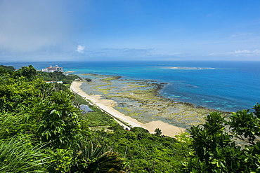 View over the beach of the sacred site of Sefa Utaki, UNESCO World Heritage Site, Okinawa, Japan, Asia