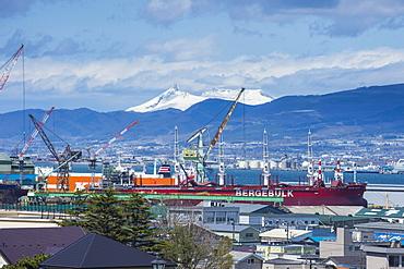 View over Hakodate from the Motomachi district, Hakodate, Hokkaido, Japan, Asia