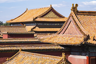Rooftops, Forbidden City, Beijing, China, Asia